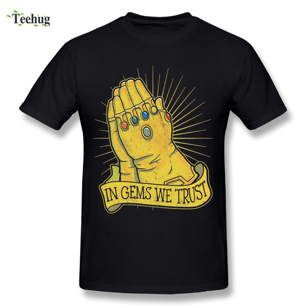 Novelty Man Thanos Infinity Stones T Shirt Big Size Homme Tees Great Design In Gems We Trust Male T Shirts