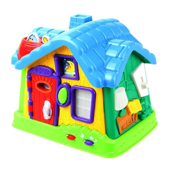 Educational Toy Dollhouse Room Lighting Music Miniature Little Toy House Ability Promoting Assemble Kits for Kids
