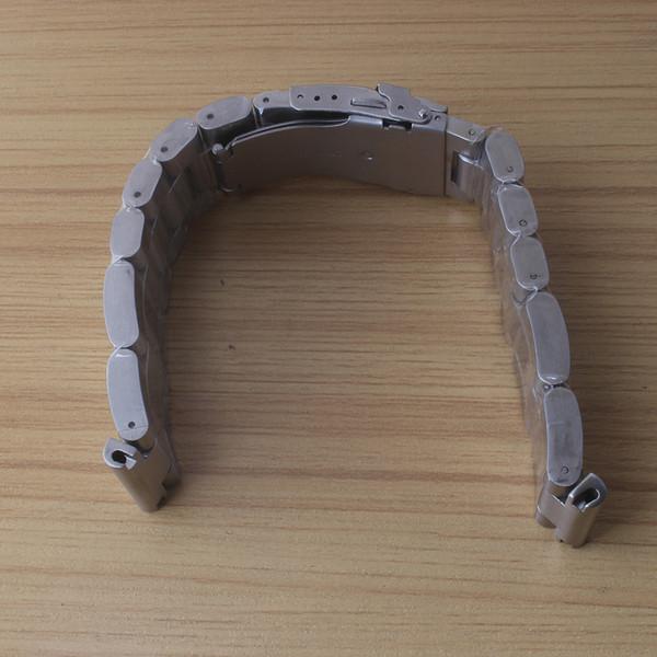 Uhrenarmbänder 22mm 24mm 26mm Heavy Duty Uhr Zubehör Edelstahl dicker Uhrenarmband aus unpoliertem Metall Faltschließe