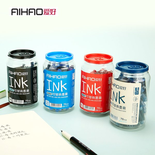 70 PCS/pack blue Deep blue Erasable Pen Refills Universal Fountain Pen Ink Sac Cartridges Refill Office Stationery