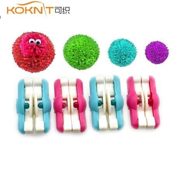 KOKNIT 2pcs/lot Mini Pompom Pom-pom Maker for Fluff Ball Weaver Needle Craft DIY Wool Knitting Craft Tool Set Decoration