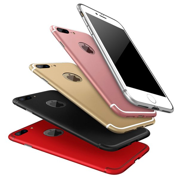 for iPhone 7 7 Plus Case Luxury Ultra Thin Metal Frame Aluminum Bumper Cover Protective Mobile Phone Case Cover