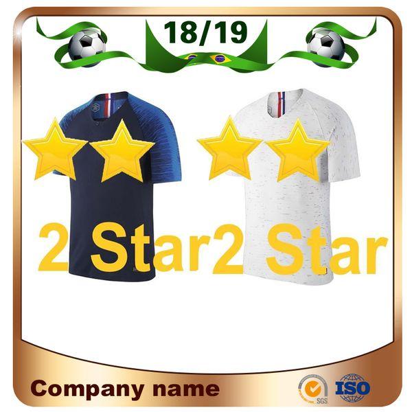 2 Star 2018 World Cup Champion 10 MBAPPE Soccer Jersey Home 7 Griezmann Soccer Shirt National Team 9 Giroud 6 Pogba football uniforms