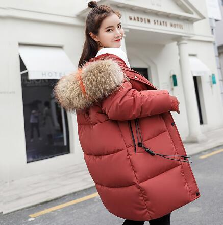 Winter Jacket Maternity Down Cotton Padded Warm Outwear Parkas Women Maternity Colorful Fur Hooded Thick Coat Pregnant Clothing