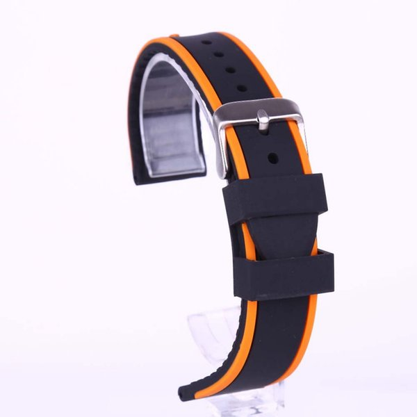 wrist watch with eight points two-color silicone strap red orange blue white brown yellow Outdoor sports protective gear