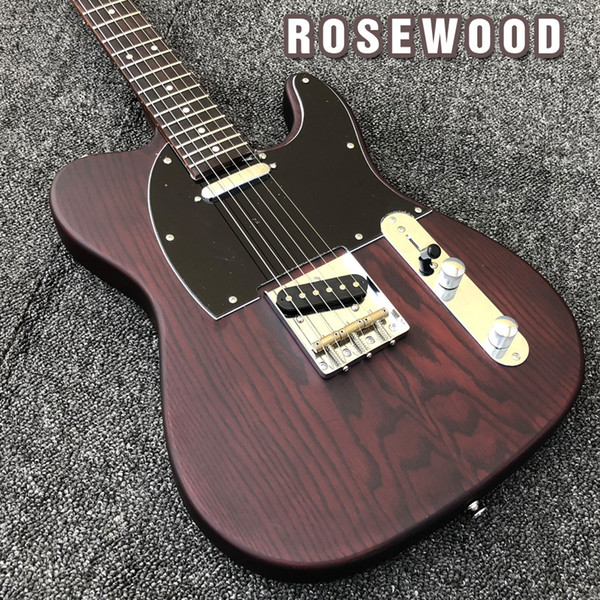 best selling FSR GEORGE HARRISON Rosewood TL Wax Potted Pickups Brass Saddle Bridge Electric Guitar Free Shipping