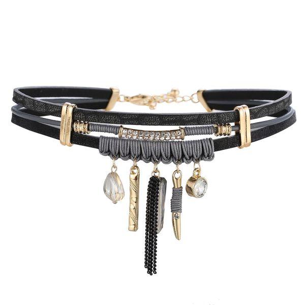 ZG ashion Aussage Schmuck Kragenchoker Halskette Für Frauen Trendy Maxi Halskette Metall Böhmischen Heißer Großhandel