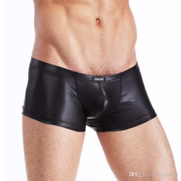 Cockcon New Sexy Boxer Leather Men's Underwear Factory Wholesale Men Homme Mens Boxers Brand Clothing Shorts