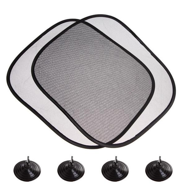 2Pcs/set 44*36cm Black Car Sun Shade Side Rear Window Glass Sunshade Cover Visor Shield Screen Solar Protection Auto Accessories