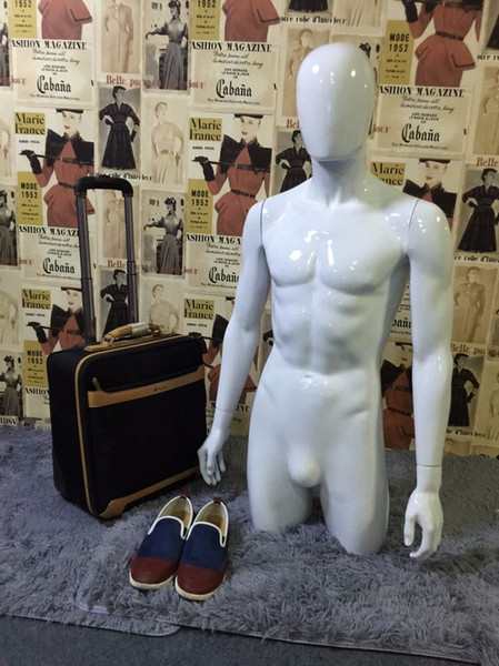 New Arrival Plus Size Fiberglass White Male Mannequin With Head for Clothes Hat Display