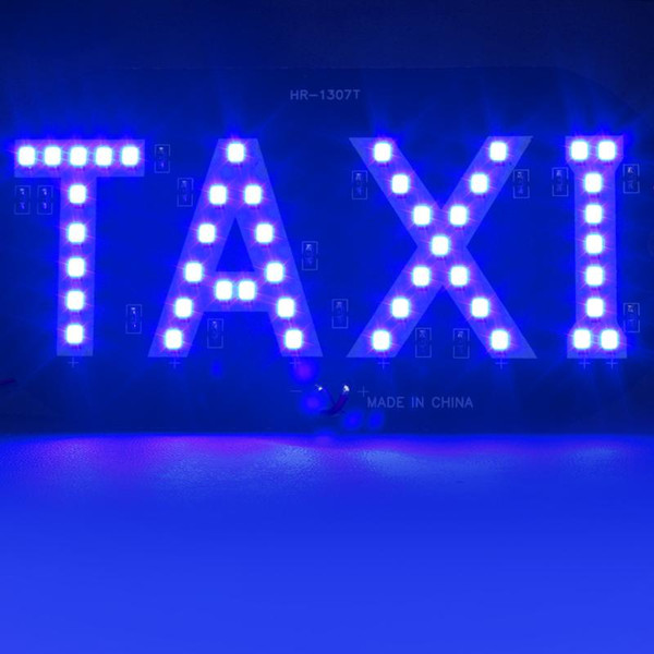 best selling Hot Sale Newest Taxi led Car Windscreen Cab indicator lamp Sign Blue LED Windshield Taxi Light Lamp 12V #HP