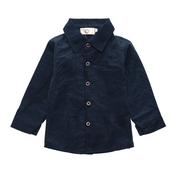 Wholesale Baby NEW Fashion solid black Shirts boys' Long Sleeve Tops T-Shirt for spring and autumn