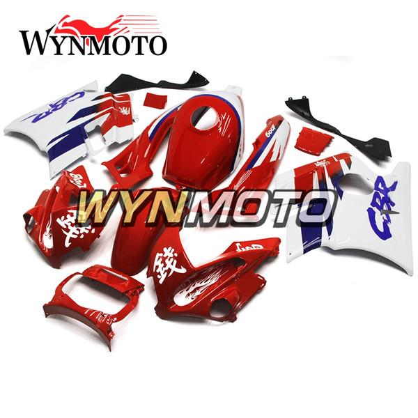 Новые полные обтекатели для Honda CBR600F2 1991 - 1994 91 - 94 пластиковые панели белизны красного цвета набора зализов Bodywork панели обвеса