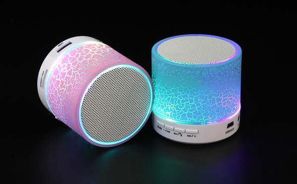 Bluetooth Speakers LED Wireless speaker hands Portable Mini loud speaker free TF USB FM Support sd card PC with Mic