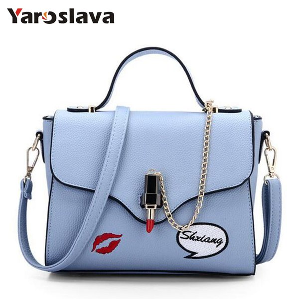 Fashion Summer Female Tote Bags Satchel PU Leather Sweet Lipstick Handbags for Women Femininas Gray Beige Purse 2018 LL269