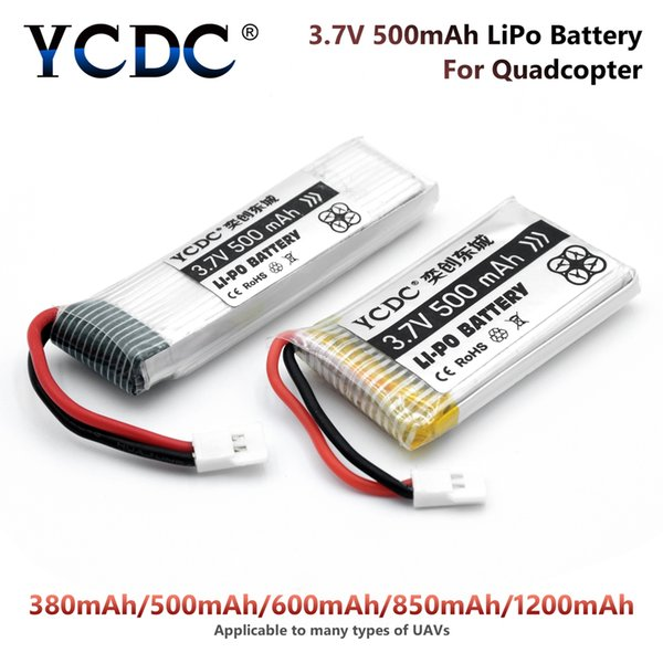 Rechargeable Batteries YCDC NEW POWER Upgraded Hubsan H107 Ladybird RC Quadcopter 25C 3.7V 380 500 800mAh 1200mAh Lipo Battery 3.7 Lipo