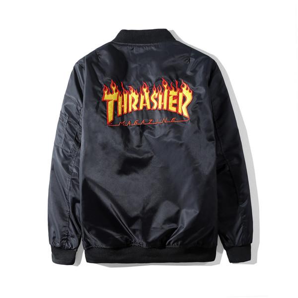 Men Bomber Jacket Hip Hop letters baseball uniform Slim Fit Pilot Bomber Jacket Coat Men Jackets Sport suit MA1 Bomber Jacket