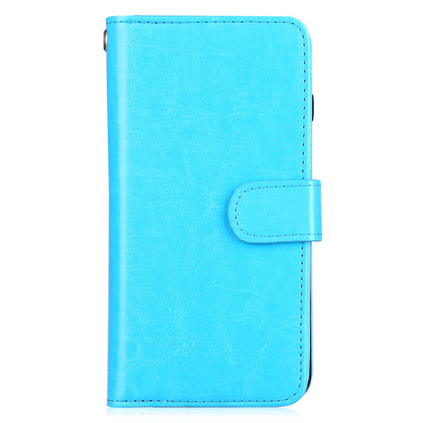 Elegant New Arrival For iPhone case Detachable Crazy horse oil wax pu leather phone case multi card slots wallet case