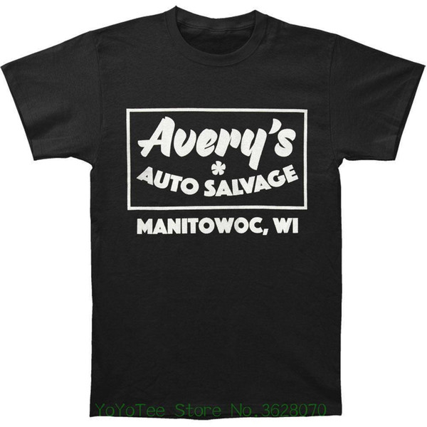 Дизайн Стиль Новая мода с коротким рукавом Avery '; S Auto Salvage Men '; S Auto Salvage Футболка Черный