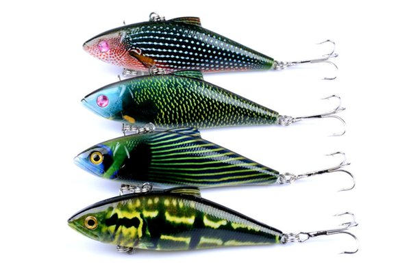 4PC/Lot ABS plastic from Japan VIB Fishing Lures Kit 14.6g/8.5cm Sinking Crankbait Lure 18 The New Bait Pesca VMC Fishing Hook