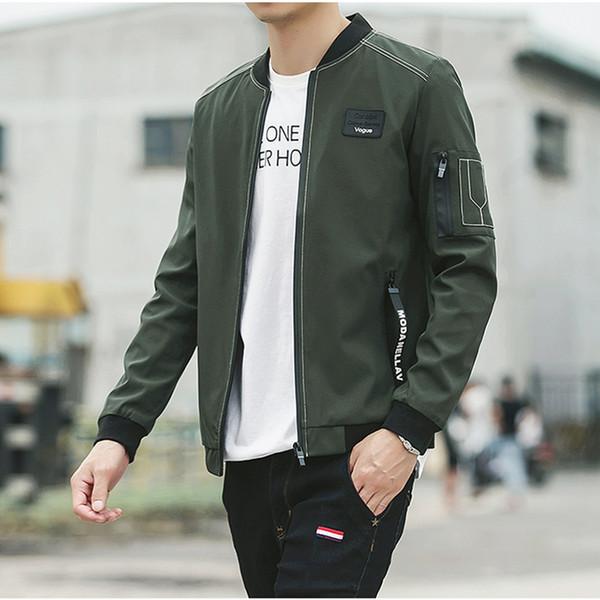New Men Jacket Spring Autumn Fashion Brand Slim Fit Coats Male Baseball Bomber Jacket Mens Coat Large Size 5XL