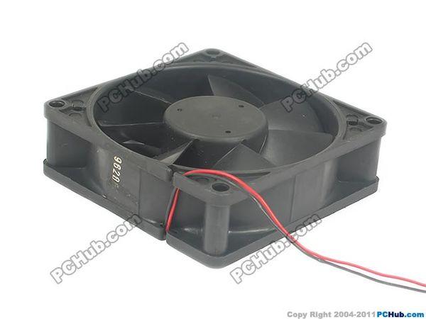 NONOISE F8025X24D Sunucu Kare Fan Için Emacro DC 24 V 0.260A 80x80x25mm 2-wire