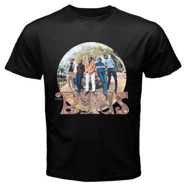 The Byrds Banda Padrão Do Vintage Dos Homens Adultos T-Shirt Preta Tamanho S M XL XL 2XL 3XL Odell Beckham Jr Camisa Jersey Hipster Homme