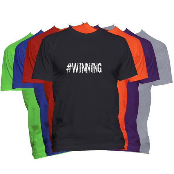 Compre Vencedor Motivacional T Shirt Palavra Dizendo Inspirado Hashtag Tee Camiseta Homens Macho Incrível Personalizado Manga Curta Do Namorado