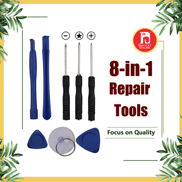 8 in 1 repair pry kit opening tool with 5 point tar pentalobe torx crewdriver for apple iphone 4 5 6 6 plu