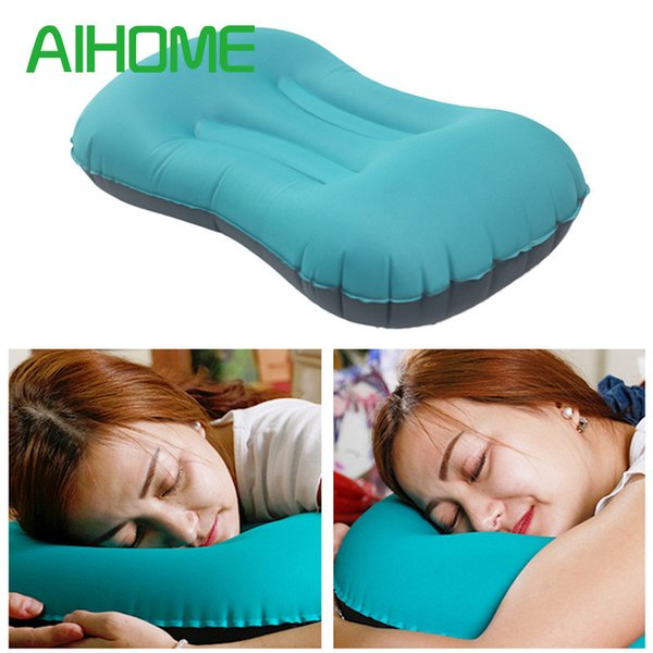 Healthy Waist Care Pillow Portable Inflatable Sleeping Pillow for Travel Office Home
