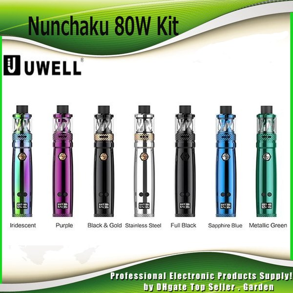 Original Uwell Nunchaku Starter Kits 80w TC Nunchaku Mod and 5ml Tank Atomizer Vape Pen Kit 100% Authentic