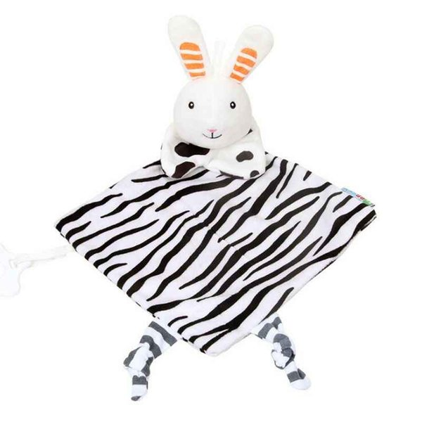 New 20*20cm Baby Infant Preferred Soft Appease Towel Toys Calm Cute Rabbit Doll Teether Developmental Baby Towel