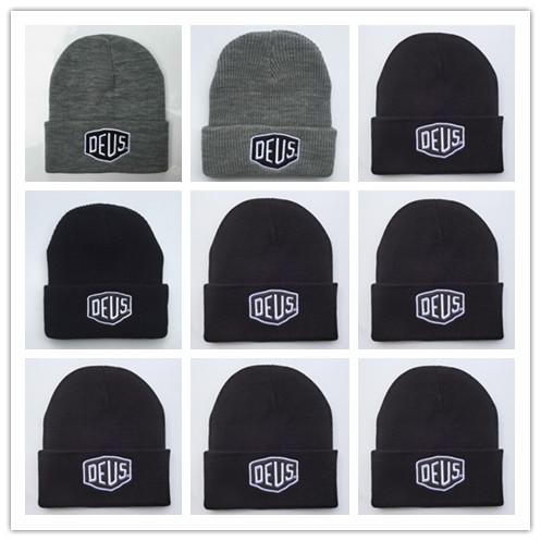 Top Sale Wholesale Deus Ex Machina Baylands Trucker Beanie hat Men Women Bboy Girls Sports Winter 6 Hiphop God yeezus Cap Black