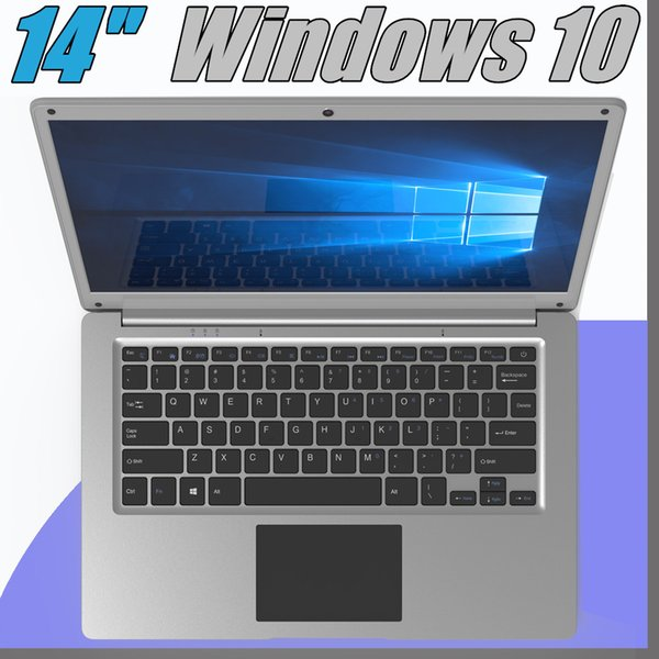 best selling 2018 free Shipping 14 inch mini laptop computer Windows 10 2G 4GB RAM 32G 64GB emmc Ultrabook tablet laptop with lowest price