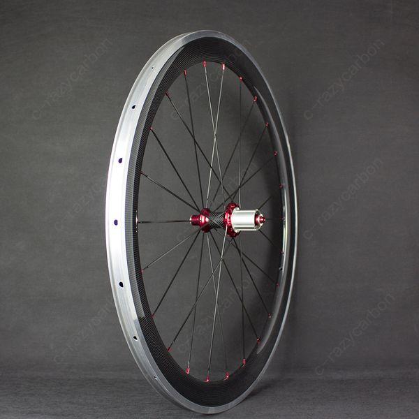 Free Shipping!!700C Road Bike FFWW 38MM U Shape Full Carbon Fiber Wheels Clincher Road Bike Carbon Wheel