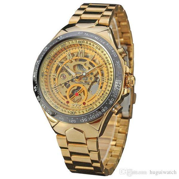 5fc63f65d Winner Watch Men Skeleton Automatic Mechanical Watch Gold Skeleton Vintage  Man Watches Mens FORSINING Watch Top
