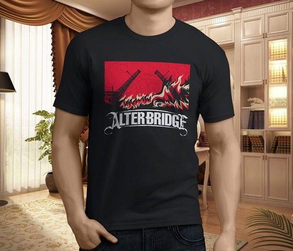 New Alter Bridge The Last Hero Album Cover Band Men's Black T-Shirt Size S-3XL