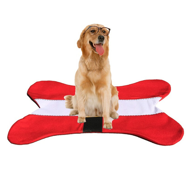 Christmas Bone Shape Dog Warm Carpet Mat Xmas Gifts Single velvet + sponge + anti-skid cloth Carpet Creative Gift