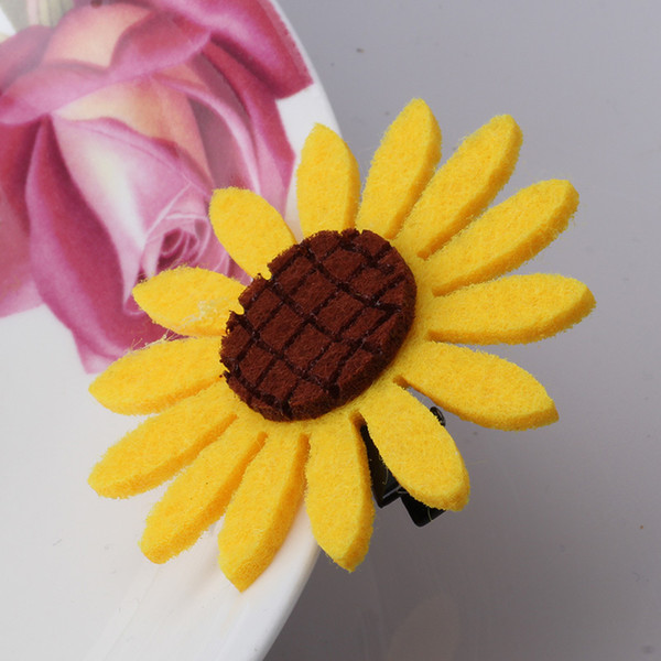Wholesale Sweet Daisy Flowers Hairpins Barrettes For Girls Headwear Elastic Hair Bands Hair Clips Accessories Scrunchy Holder