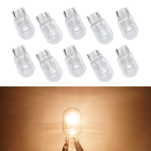 wholesale Car Halogen Bulb 7440 T20 12V/W21/5W Clear Glass DRL Stop Light Tail Lights Daytime Running Light #1352