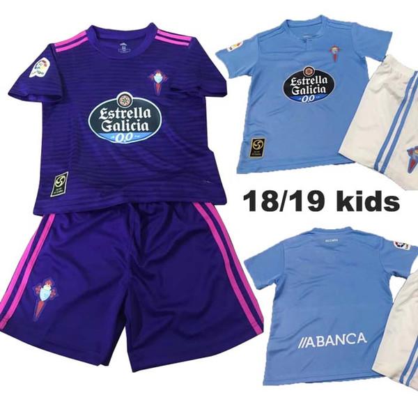 En iyi kalite 18 19 Celta Vigo futbol forması kitleri çocuk 2019 Celta de Vigo BONGONDA HERNANDEZ NOLITO ev çocuk futbol gömlek