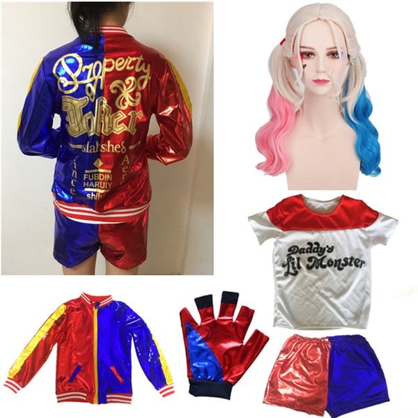100% originale varietà larghe varietà larghe Acquista Harley Quinn Girls Cosplay Costumi Di Halloween Bambini Suicide  Squad Film Costume Crazy Loli Anime Cosplay Party A $40.81 Dal Hoeasy   ...