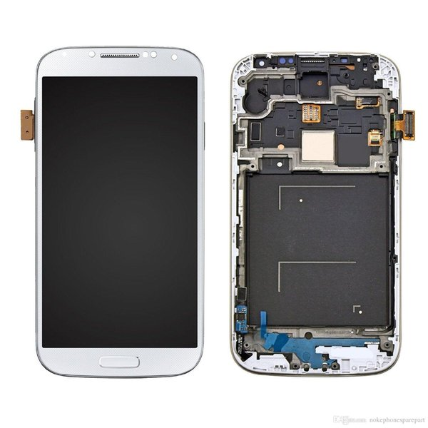 LCD Display Touch Screen Digitizer with Frame For Samsung Galaxy S4 i9500 -White