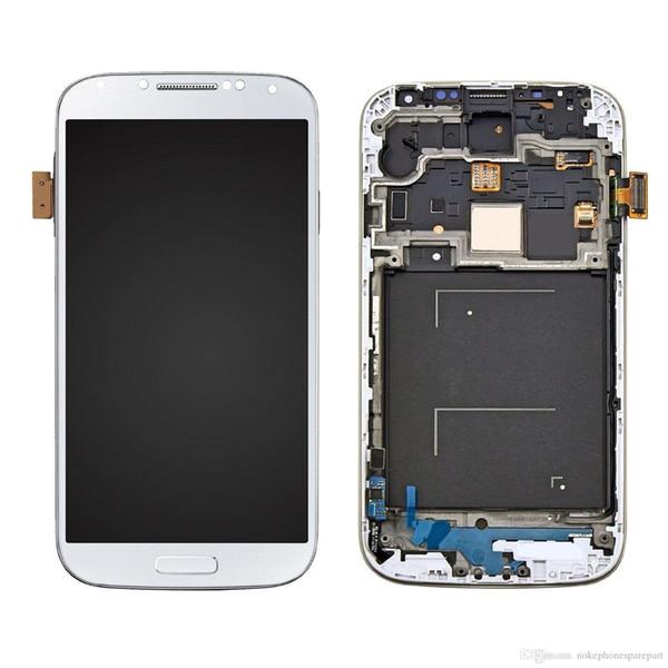 Pantalla LCD Pantalla táctil digitalizador con marco para Samsung Galaxy S4 i9500 - Blanco