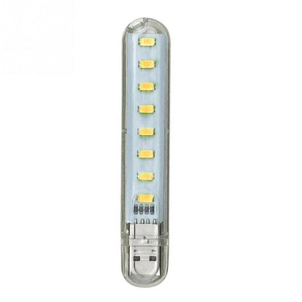 Mini Mobile Power USB LED Lamp DC5V 8 LED Camping Computer Portable Night USB Gadget Lighting For PC Laptop
