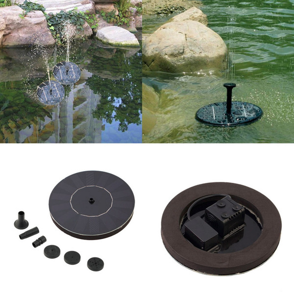 Solar Powered Water Pump Garden Fountain Floating Panel Watering Pond Kit for Waterfalls Water Display Drop shipping