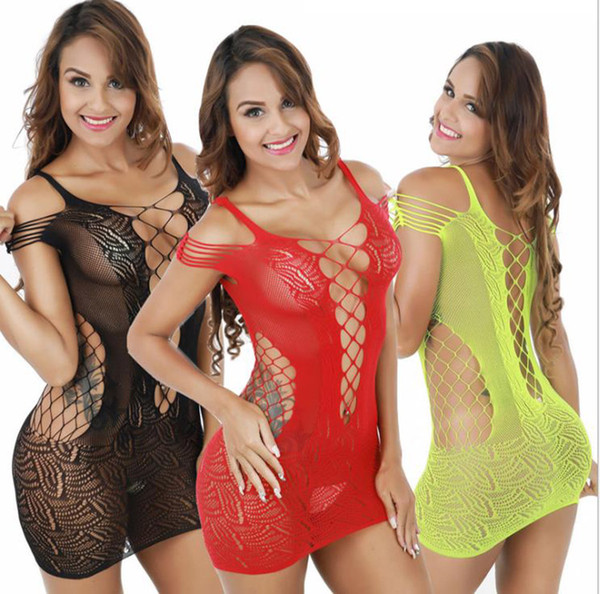 top popular Foreign trade erotic lingerie women's strap sexy black hollow bag hip Skirt lotion mesh jacquard perspective cute 2021