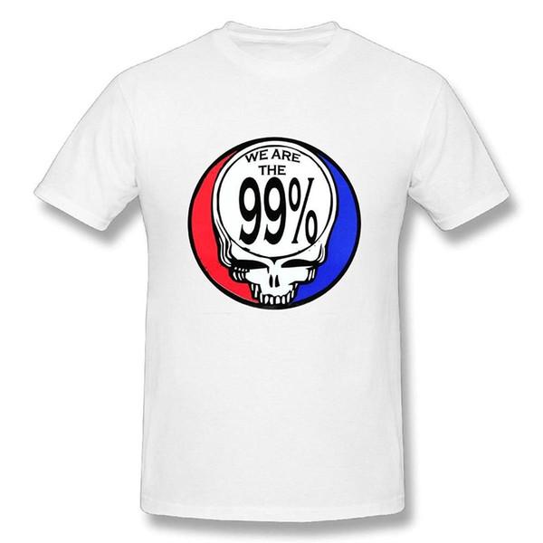 T-shirt Grateful Dead Logo pour hommes - T-shirt drôle, blanc