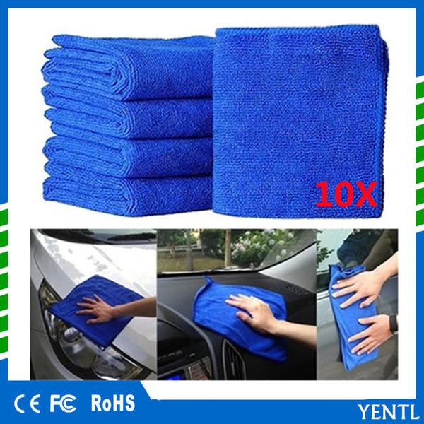 Free shipping YENTL carcare 10pcs Car 30*70cm Thick Plush Microfiber Car Cleaning Cloth Car Washing Wax Polishing Detailing Towel Cleaner