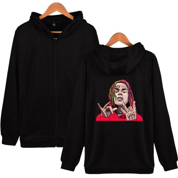 Новый рэпер рэп хип-хоп стиль 6ix9ine толстовки рэппер Tekashi69 куртка пальто уличная мужчины с длинным рукавом пуловеры толстовка Swatshirt